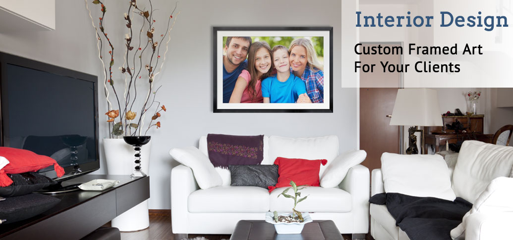 Custom Framed Art for Interior Designers