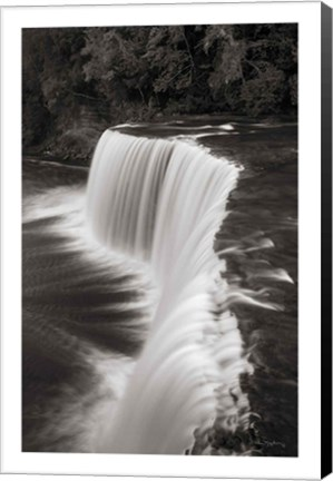 Framed Tahquamenon Falls Michigan II BW Print