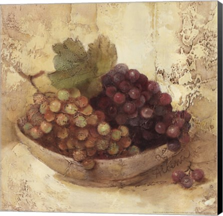 Framed Sunlit Grapes Print