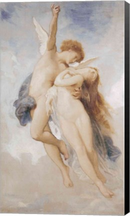 Framed Cupid and Psyche, 1889 Print