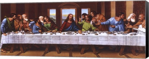Framed Last Supper - Panel Print