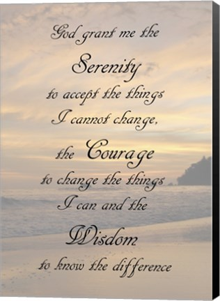 Framed Serenity Prayer - landscape Print