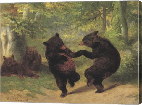 Framed Dancing Bears Print
