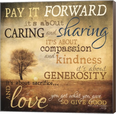 Framed Meaning of Pay It Forward Print