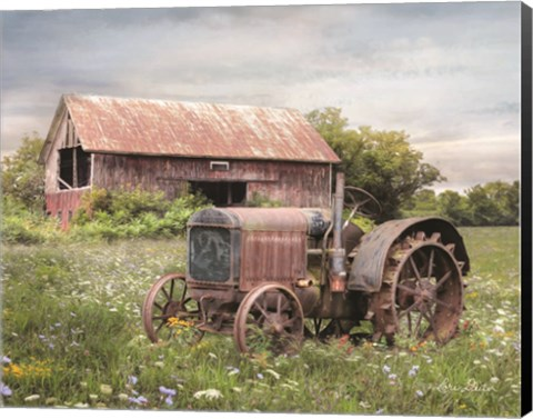 Framed Clayton Tractor Print
