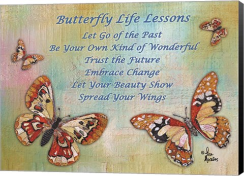 Framed Butterfly Life Lessons Print