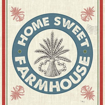Framed Sweet Farmhouse I No 100 Print