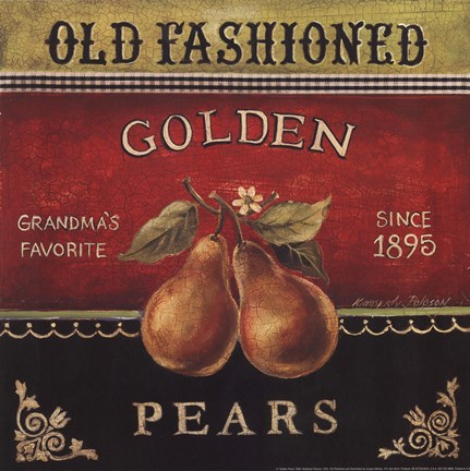 Framed Golden Pears Print