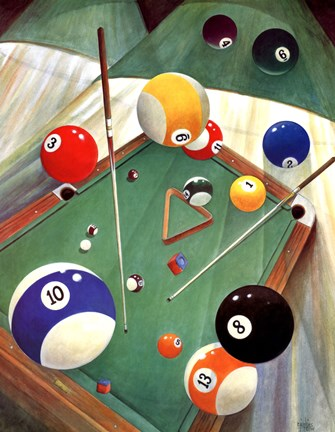 Framed Billiards II Print