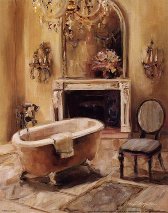 Framed French Bath I Print