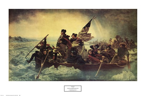 Framed Washington Crossing the Delaware, c.1851 Print