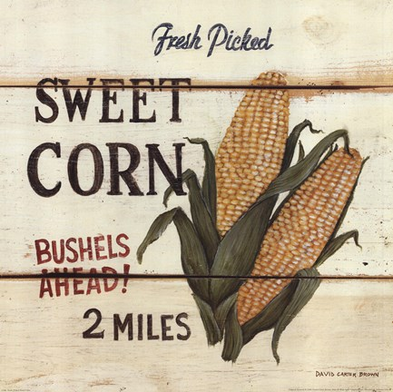 Framed Fresh Picked Sweet Corn Print
