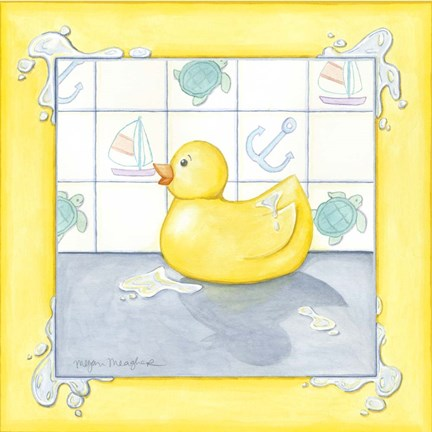Framed Small Rubber Duck II Print