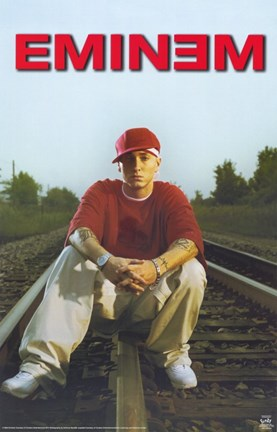 Framed Eminem On Train Tracks Print