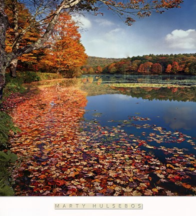 Framed Bass Lake in Autumn II Print