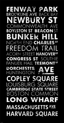 Framed Boston Cities II Print