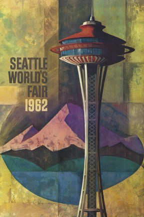 Framed Seattle World's Fair 1962 II Print