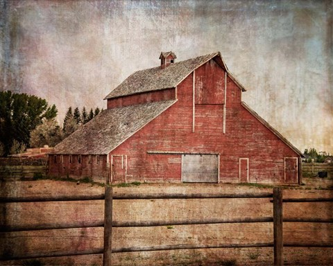 Framed York Road Barn Print
