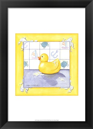Framed Rubber Duck (D) II Print