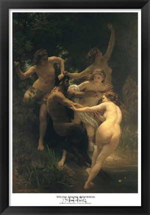 Framed Nymphs and Satyr Print