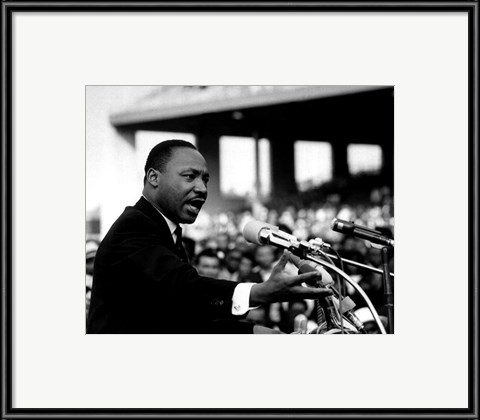 Framed Rev. Dr. Martin Luther King Jr. Speaking (#8) Print
