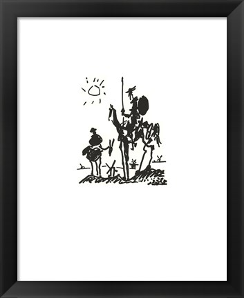 Framed Don Quixote - Embossed Print