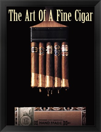 Framed Art of a Fine Cigar Print