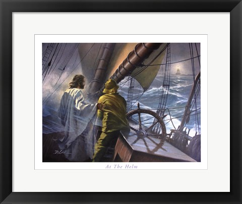 Framed At The Helm Print