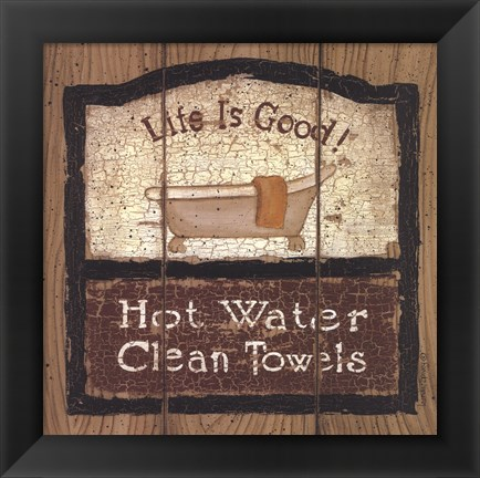 Framed Hot Water Print