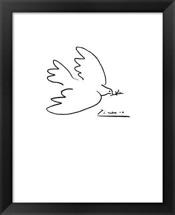 Framed Dove of Peace Print