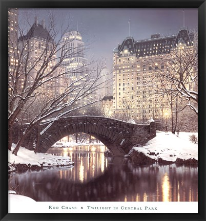 Framed Twilight in Central Park Print