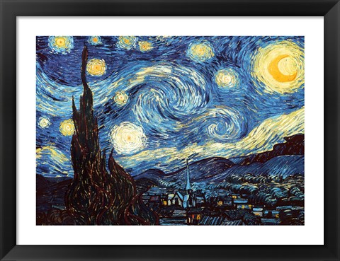 Framed Starry Night, June 1889 Print