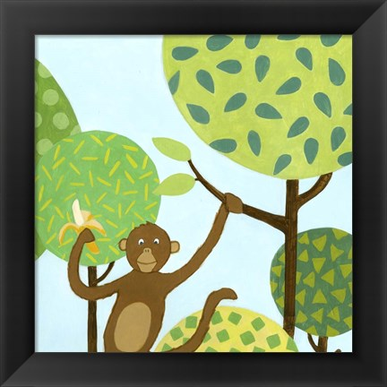 Framed Jungle Fun I Print