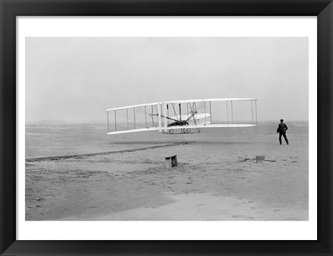 Framed First Successful Flight of the Wright Flyer Print