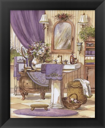 Framed Victorian Bathroom II Print