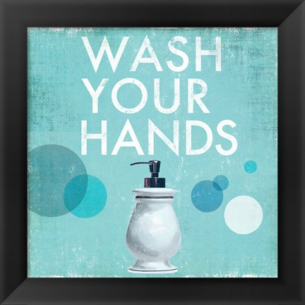 Framed Wash your Hands Print