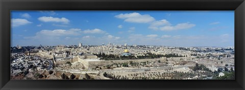Framed Ariel View Of The Western Wall, Jerusalem, Israel Print