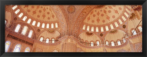 Framed Interior, Blue Mosque, Istanbul, Turkey Print
