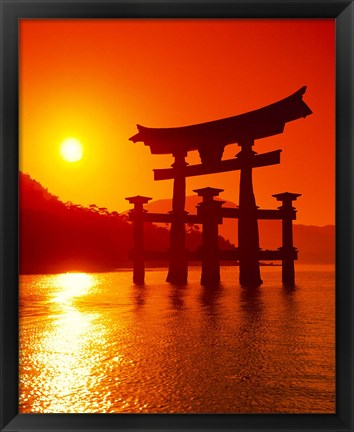 Framed O-Torii Gate, Itsukushima Shrine, Miyajima, Japan Print
