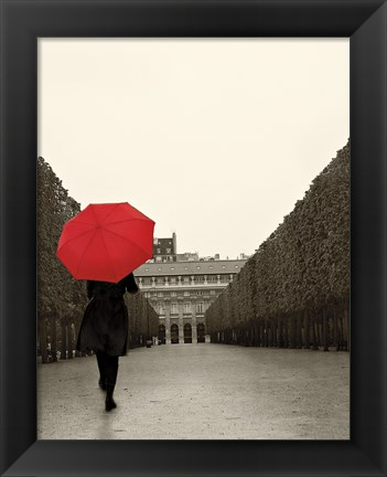 Framed Paris Stroll I Feet Print