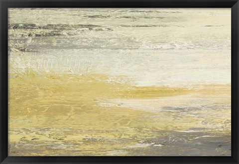 Framed Siena Abstract Yellow Gray Landscape Print