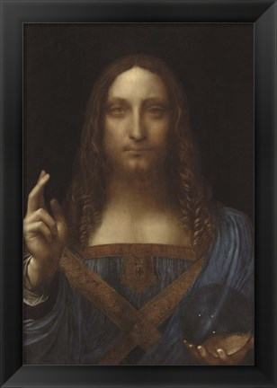 Framed Salvator Mundi Print