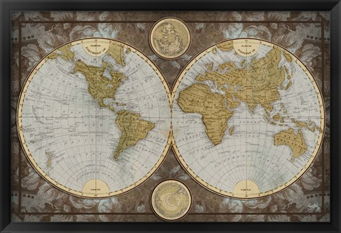 Framed World Map Print