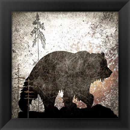 Framed Calling Bear Print