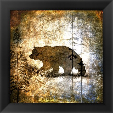 Framed High Country Bear Print