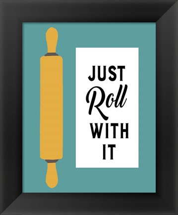 Framed Retro Kitchen III - Just Roll With It Print