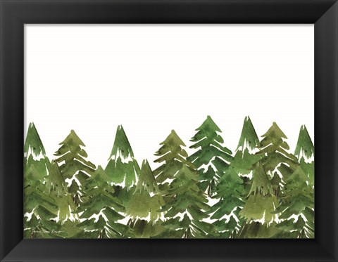 Framed Trees in a Row I Print