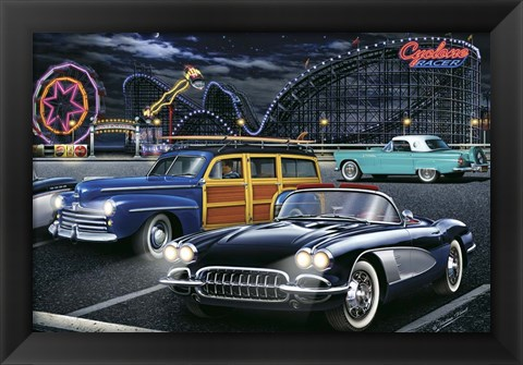 Framed Diners and Cars III Print