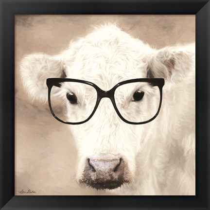 Framed See Clearly Cow Print