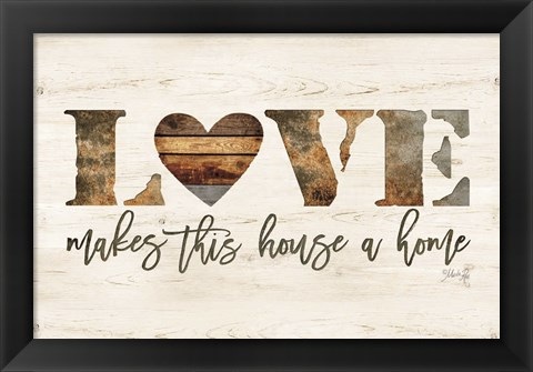 Framed Love Makes This House a Home Print